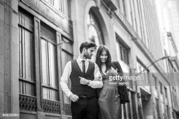 Modern and beautiful couple