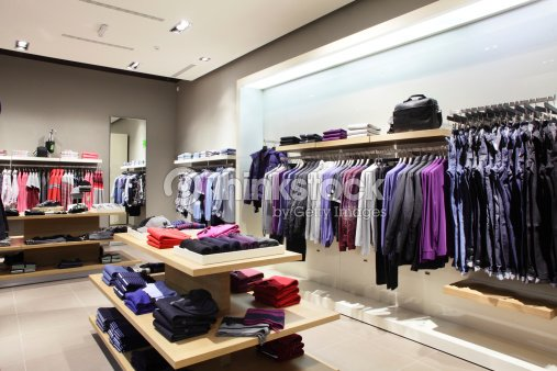 75325ea9f97 Modern And Fashion Clothes Store Stock Photo - Thinkstock