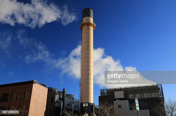 Modern and innovative wood burning power facility, Saint Paul, Minnesota, USA