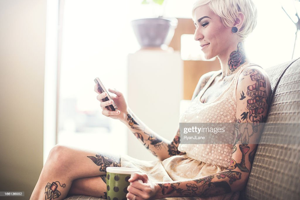 Modern Apartment and Young Woman : Stock Photo