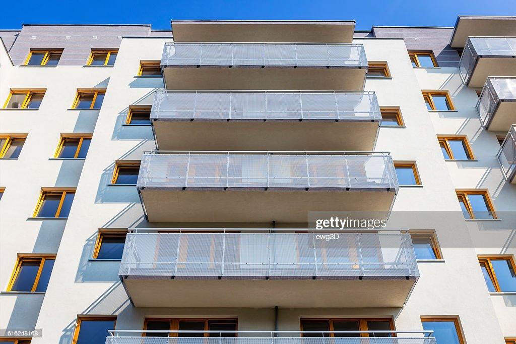 Modern apartment architecture, Szczecin, Poland : Stock Photo