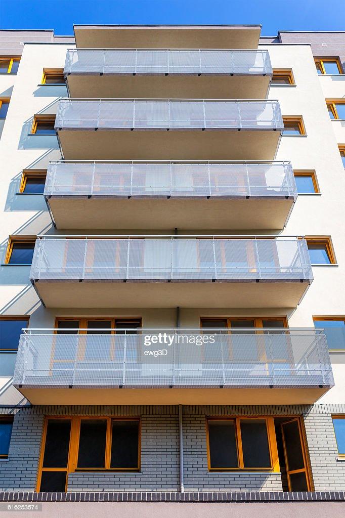 Modern apartment architecture, Szczecin, Poland : Foto de stock