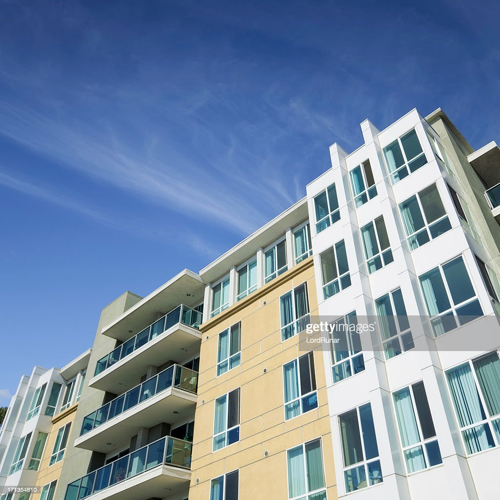 modern apartment building facade stock photo getty images