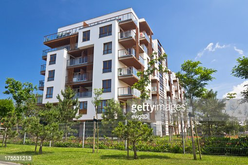 Modern Apartment Building modern apartment building stock photo | getty images