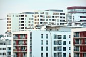 New apartment building in suburban area