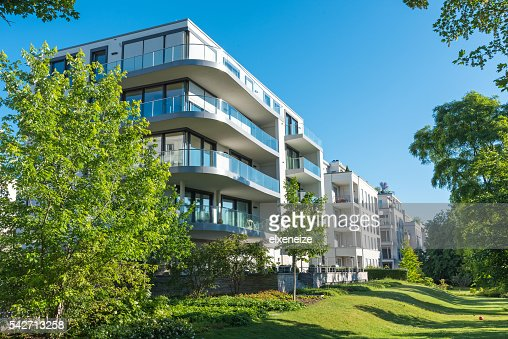 Modernes apartment-Häuser : Stock-Foto