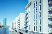 Modern Appartment Houses, Westhafen, Frankfurt, Germany