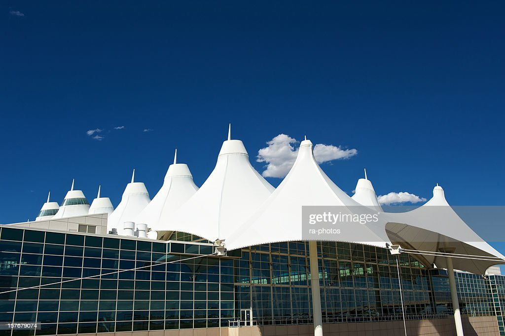 Modern architecture at Denver airport