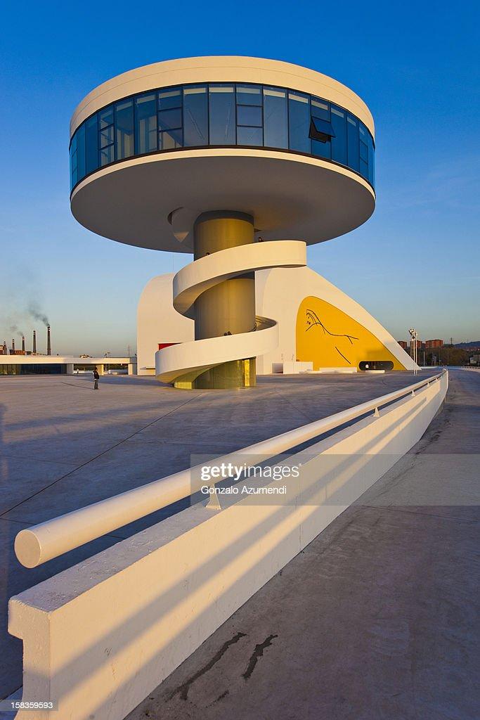 Modern architecture in Aviles. : Stock Photo