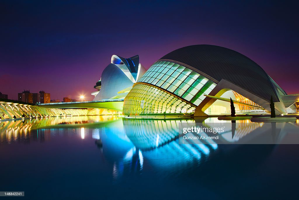 Modern architecture in Valencia.