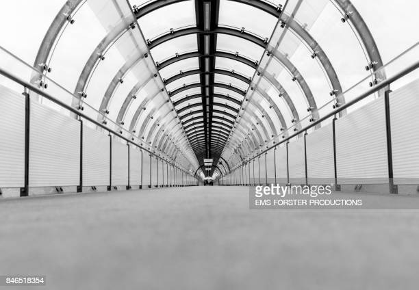 modern architecture tunnel architecture with a graphic barrel view