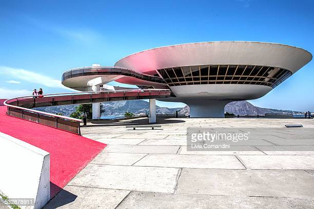 Modern art Museum in Niteroi This building By architect Oscar Niemayer is in every book About modern architecture Niteroi is a Big town very close to...