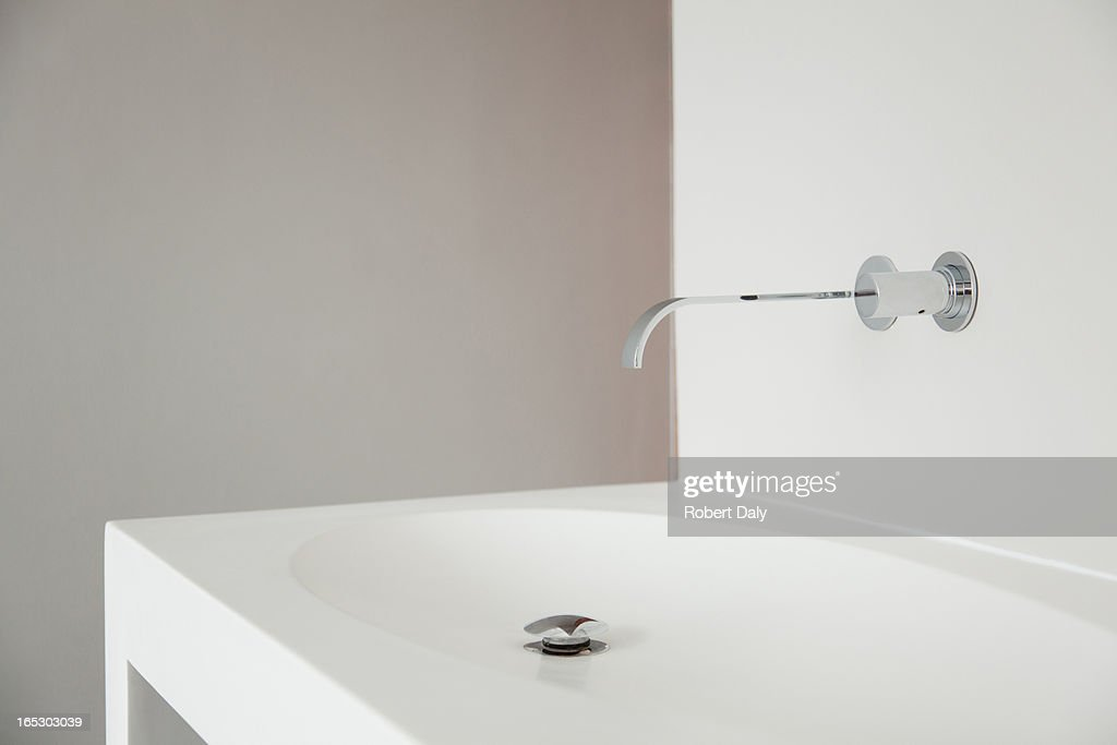 Modern bathroom faucet and sink