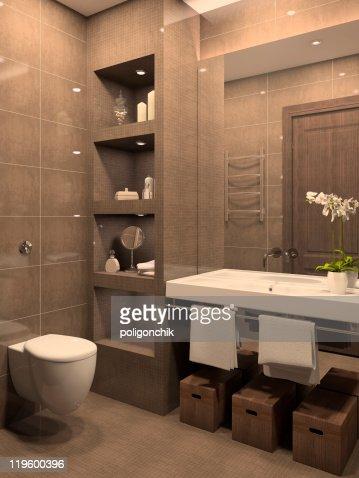 Modern bathroom. : Stock Photo