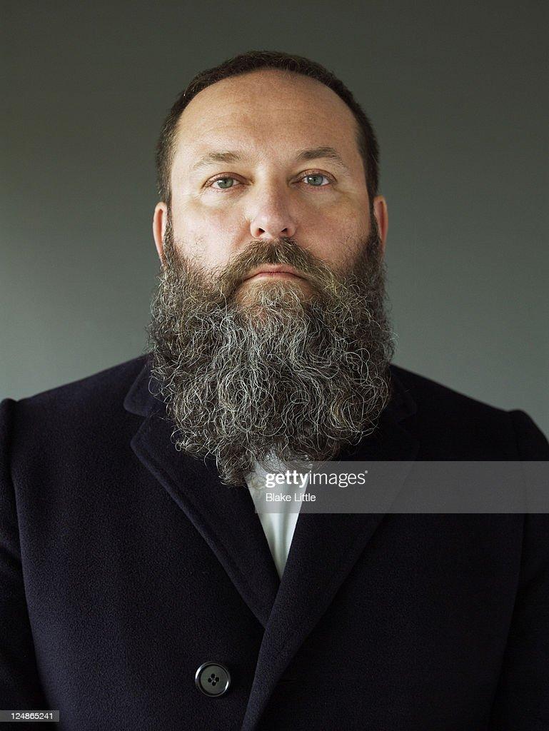 Modern Bearded Man Close Up : Stock Photo