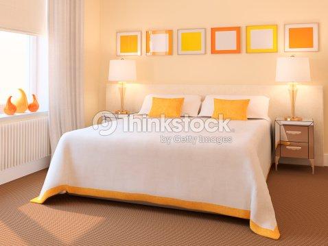현대식 침실 내륙발 스톡 사진  Thinkstock