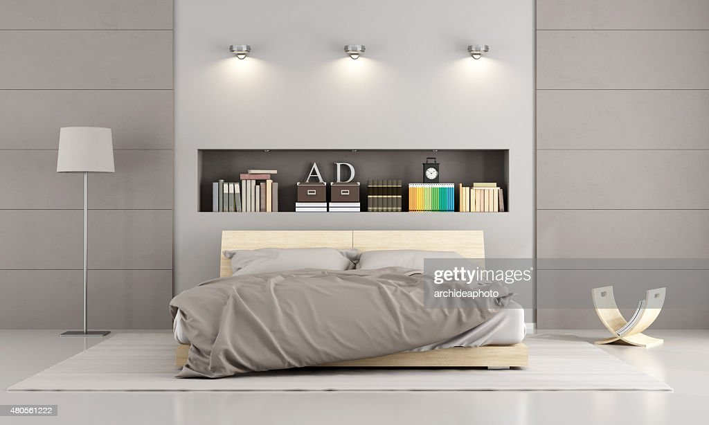 Modern bedroom : Stock Photo
