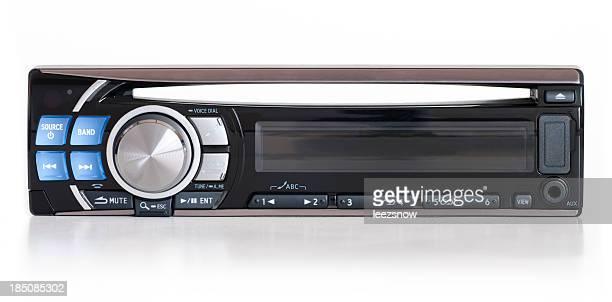 Modern black automobile stereo unit