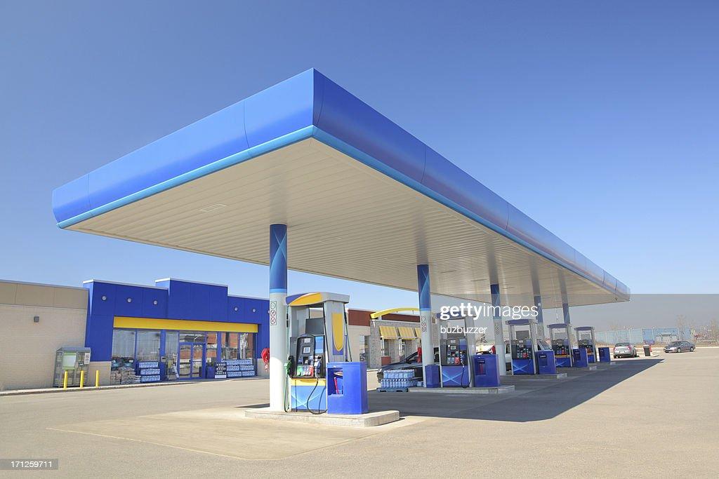 Modernes Blau-Station : Stock-Foto