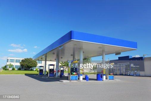 Modern Blue Service Station