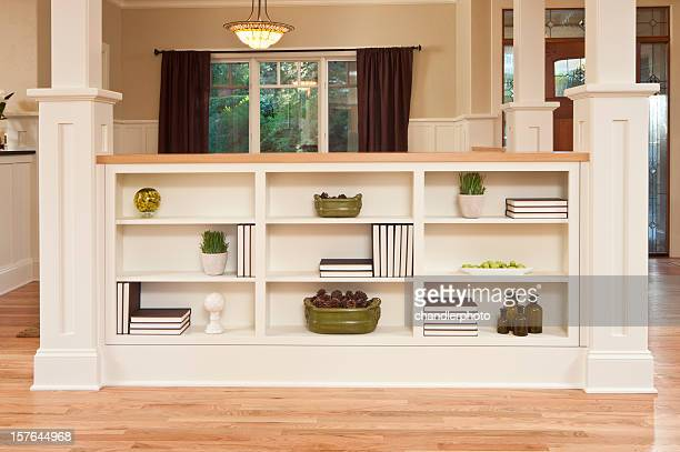 Modern bookcase in home