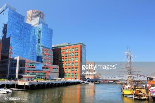 Modern Boston Riverside Buildings