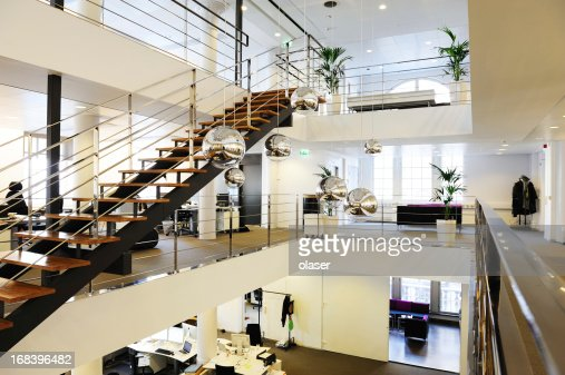 Modern brand new open space office stock photo getty images for Bureau open space dimension