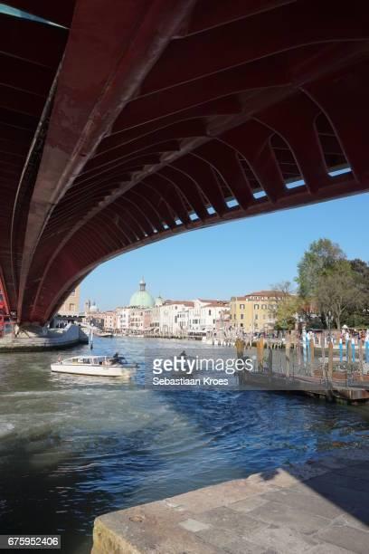 Modern Bridge and Old city of Venice, Calatrava, Italy
