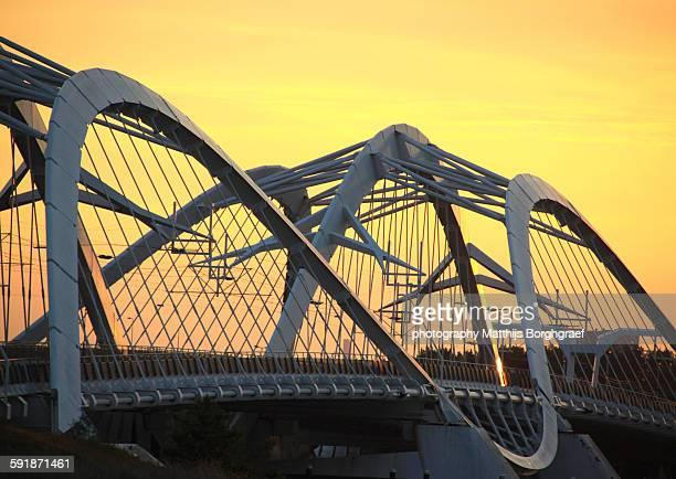 Modern Bridge in Amsterdam