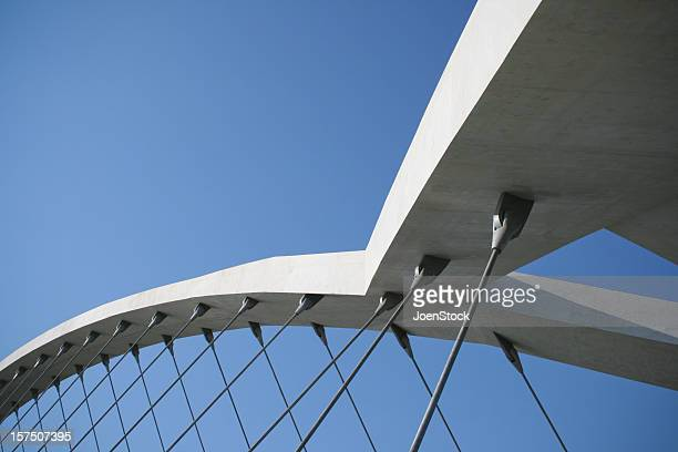 Modern bridge in Saragossa Spain