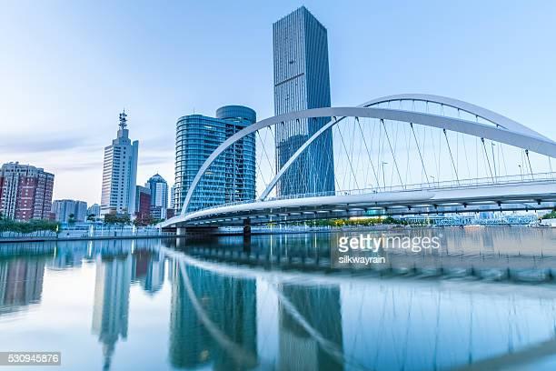 modern bridge in tianjin