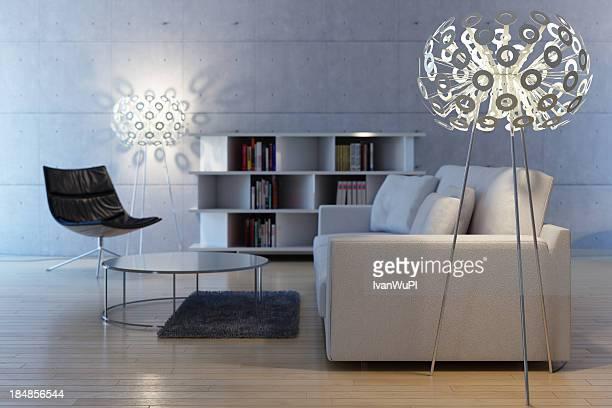 Moderna brilhante livingroom