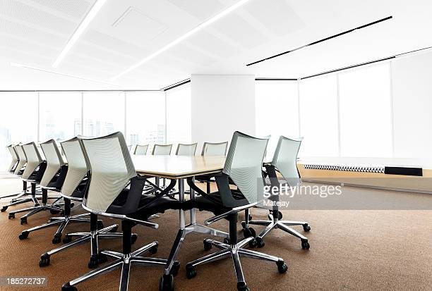 Modern, brightly lit boardroom