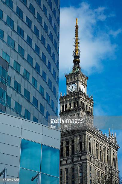 Modern Building and Palace of Culture, Warsaw, Poland