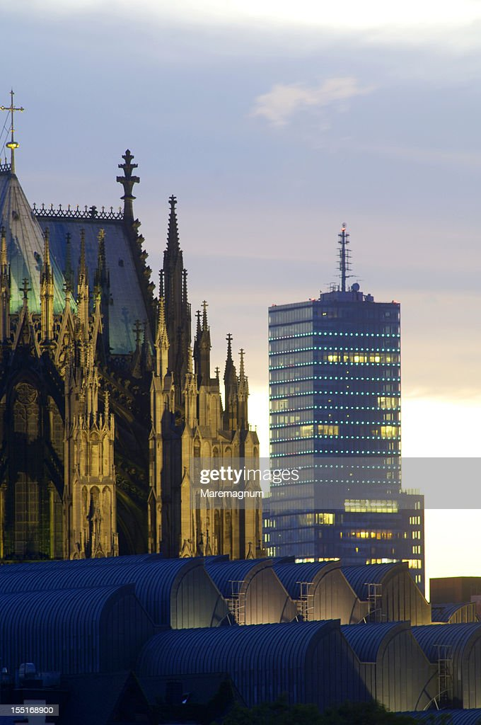 Modern building around the Cathedral : Stock Photo