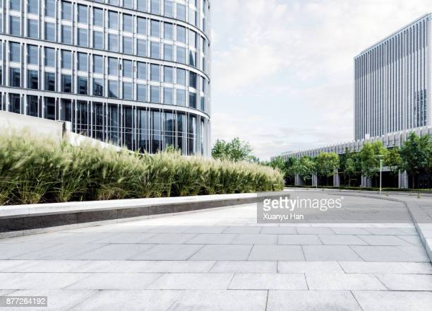 Modern building , Auto advertising background