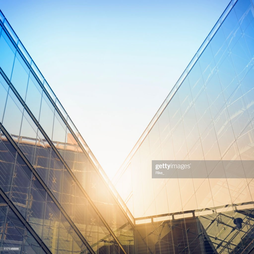 Modern building in sunlight : Stock Photo