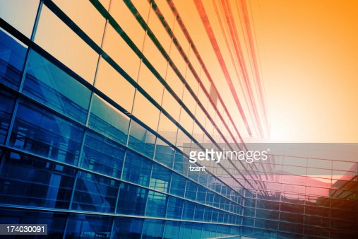 Modern building in sunlight