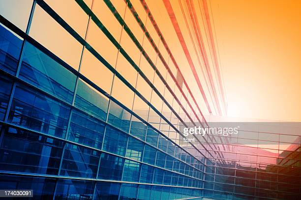 Modern building in sunlight