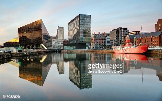 Modern Buildings At Albert Dock Against Sky