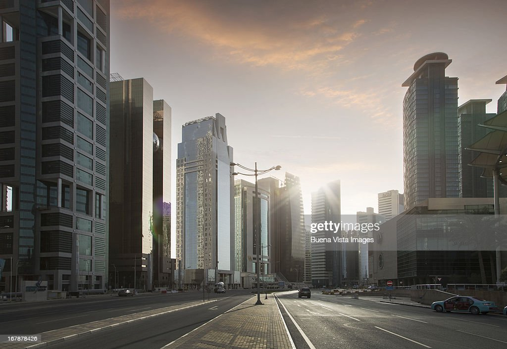 Modern buildings downtown Doha