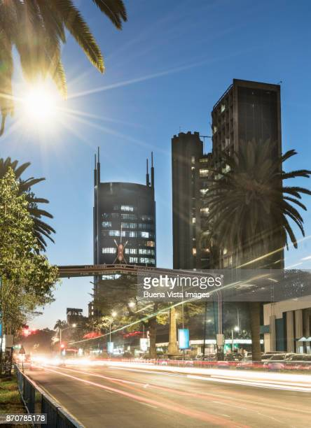 Modern buildings downtown Nairobi.
