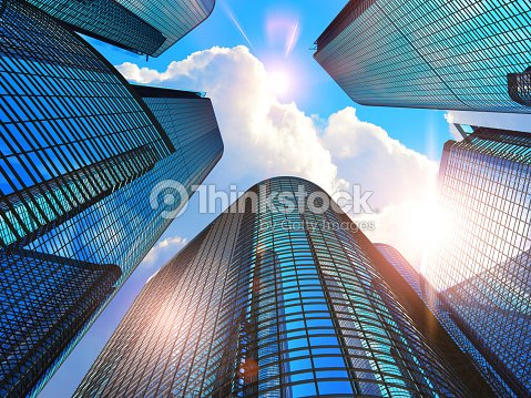 Modern business buildings : Stock Photo