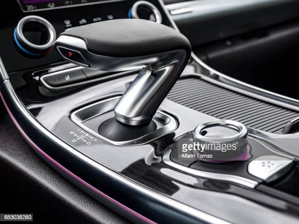 Modern car gearbox lever