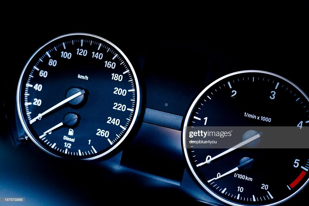 Car Instrument Panel Labeled : Modern car instrument panel stock photo getty images