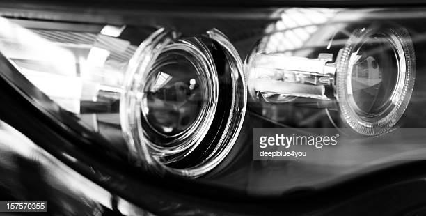modern car xenon lights