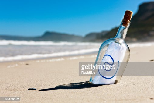 Modern castaway's message in a bottle says simply @