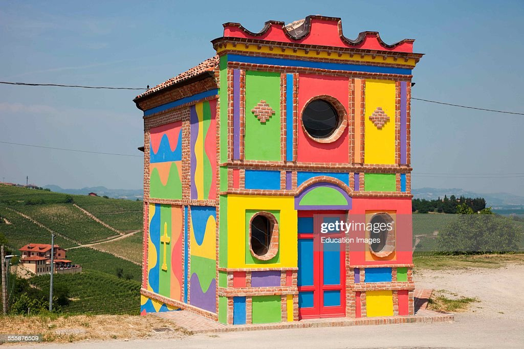Modern Chapel By David Tremlett And Sol Lewitt In Locality Brunate Di La Morra Barolo Area Langhe Piemonte Italy Europe