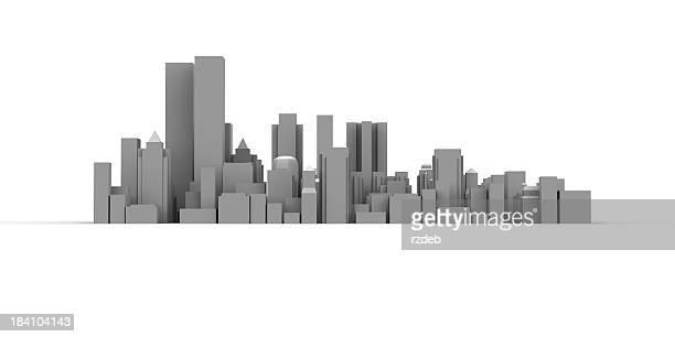 近代的な街並みと高いビル