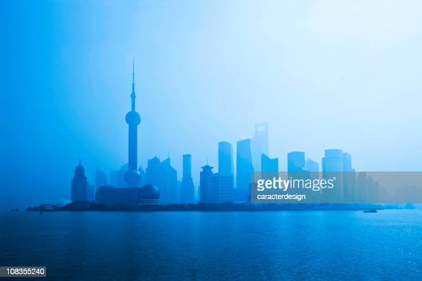 Moderna de la ciudad. Vista panorámica de Shanghai
